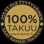 100% takuu rahat takaisin –Auran.fi